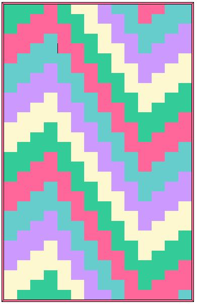 Click for Bargello Baby Quilt Pattern